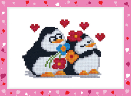 DIAMOND PAINTING PENGUINS IN LOVE - FREYJA CRYSTAL