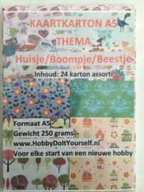 Decor Karton Huisje/Boompje/Beestje (24)