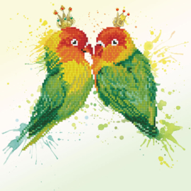 DIAMOND DOTZ LOVE BIRDS - NEEDLEART WORLD