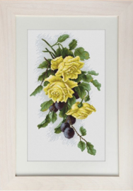 BORDUURPAKKET YELLOW ROSES WITH PLUMS - LUCA-S
