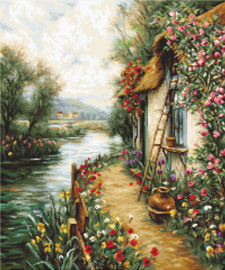 ALONG THE RIVER (petit point)