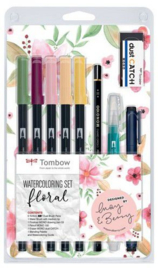 Tombow Watercoloring set floral WCS-FL