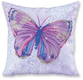 DIAMOND DOTZ KUSSEN - PAPILLON MAUVE - NEEDLEART WORLD