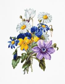 BOUQUET OF FLOWERS (weefstof)