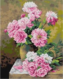 Voorbedrukt stramien Rozen - ORCHIDEA 40 x 50