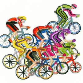 BORDUURPAKKET JULIA RIGBY - CYCLING FUN - BOTHY THREADS