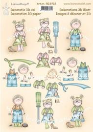 Leane Creatief - 3D-knipvel A4 - Bambinies