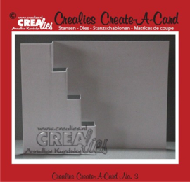 Crealies Create A Card no. 3 stans voor kaart CCAC03 / 13,5 cm x 27 cm