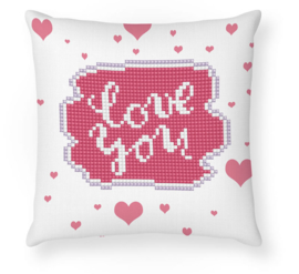 DIAMOND DOTZ LOVE YOU MINI PILLOW - NEEDLEART WORLD