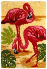 KNOOPKLEED ORCHIDEA -  FLAMINGOS 50 x 75 cm