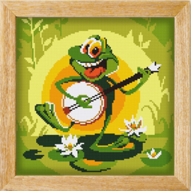 Diamond painting MANDALA FUNNY ANIMALS FROGGY FESTIVAL
