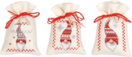 Kruiden of snoepzakjes kerstfiguren (set van 3) PN-0155951
