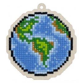 Setje met houten figuurtje DP EARTH WWP288