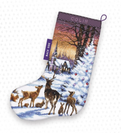 Borduurpakket LETI 948 Christmas Wood Stocking