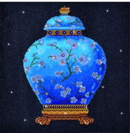 DIAMOND DOTZ BLUE VASE - NEEDLEART WORLD