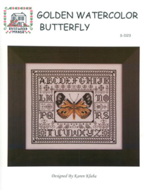 BORDUURPATROON GOLDEN WATERCOLOR BUTTERFLY - ROSEWOOD MANOR