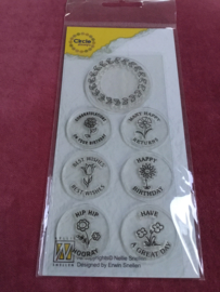 Nellies Choice Clearstempel-Circle Stamp Gefeliciteerd-ENG CCSC002