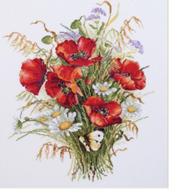 BOUQUET: POPPIES AND OATS