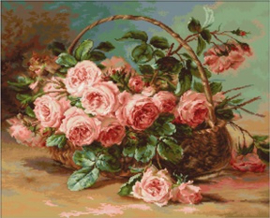BASKET OF ROSES (petit point)