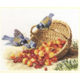CHICKADEES AND SWEET CHERRIES - ALISA