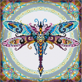 Diamond painting MANDALA Insecten LIBELLE