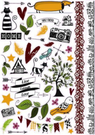 Pronty scrap stickers A4 Fam.Stories