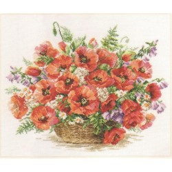 BASKET OF POPPIES - ALISA