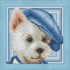 DIAMOND PAINTING KIT DOG WITH HAT AZ-1570