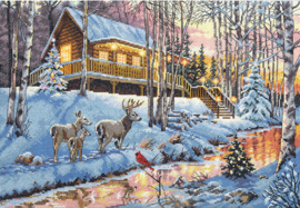 WINTER CABIN - Dimensions (GOLD collection)