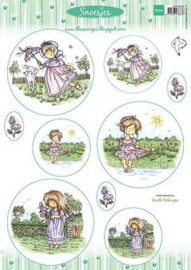 Marianne D 3D Knipvellen Snoesjes Girls A4