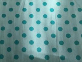 Zachtblauw/blauwe spot 50 x 55 cm 100% katoen