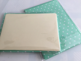 Ecru kaarten met decor envelop (4)