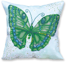 DIAMOND DOTZ KUSSEN - PAPILLON VERT - NEEDLEART WORLD