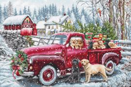 Borduurpakket LETI 8014 Christmas Delivery