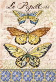 Borduurpakket LETI 975 Vintage Wings-Le Papillons