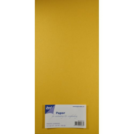 Metallic Cardstock 15 x 30 cm (pak van 20) geel