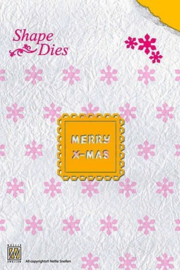 Nellie Snellen Shape Die Merry X-Mas SD018