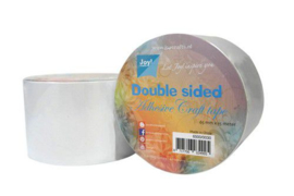 Dubbelzijdig tape  65mm breed 15m