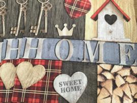 Servet Home sweet Home (pakje 5)