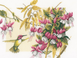 Marjolein Bastin - Kolibri met Fuchsia's