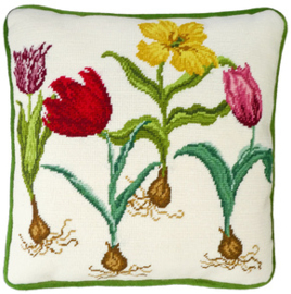 BORDUURPAKKET HANNAH DALE -  TULIPS  - BOTHY THREADS
