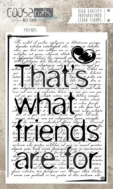 COOSA Crafts clearstamps A6 - FRIENDS
