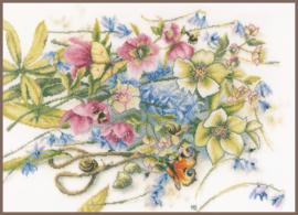 Marjolein Bastin - Helleborus met Vlinders