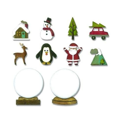 Sizzix Thinlits Die - Set 11PK - Tiny Snowglobes 663119 Tim Holtz