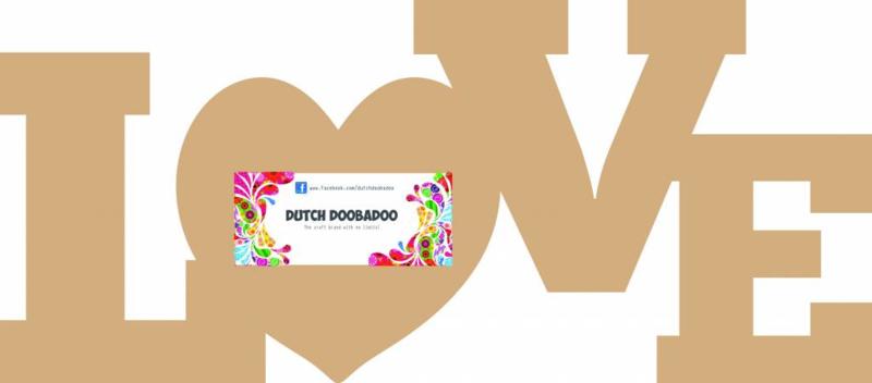Dutch Doobadoo Dutch MDF art woord 'LOVE' 29,5x13cm