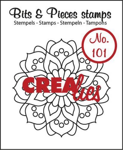 Crealies Clearstamp Bits&Pieces no. 101 Mandala A 44 mm