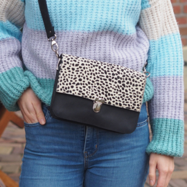 CROSSBODY BAG CHEETAH WIT/ZWART