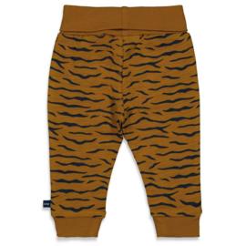 Lange broek in Camel met tijgerstreepje