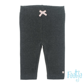 grijze legging met roze strikje
