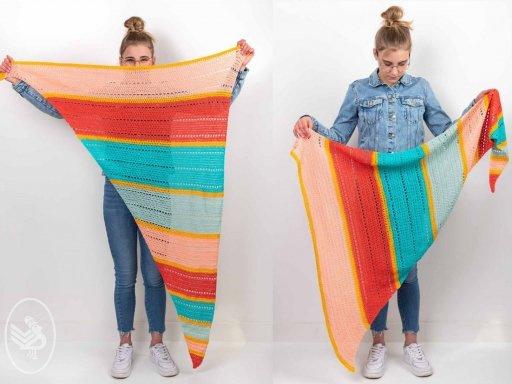 kleurrijke zomerse sjaal